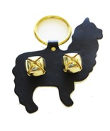 ALPACA DOOR CHIME - BLACK LEATHER w/ BRASS SLEIGH BELLS Amish Handmade i... - $19.57