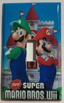 Super Mario Bros Luigi Castle Wii Light Outlet wall Cover Plate Home Decor image 1