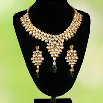 WEDDING GIFT TRADITIONAL BOLLYWOOD KUNDAN HEAVY GOLDEN CHOKER NECKLACE J... - $27.71