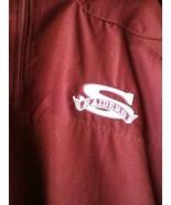 Rusell RAIDERS deep red 1/4 ZIPPER sport JACKET 2 ZIPPERED POCKETS - $25.71