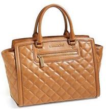 Michael Kors Selma Zip Quilt Large Satchel in Walnut Leather  - $226.71