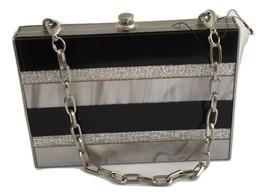 New $200 Sondra Roberts Marble Lucite Small Striped Clutch w/ Chain Strap - $1.199,59 MXN