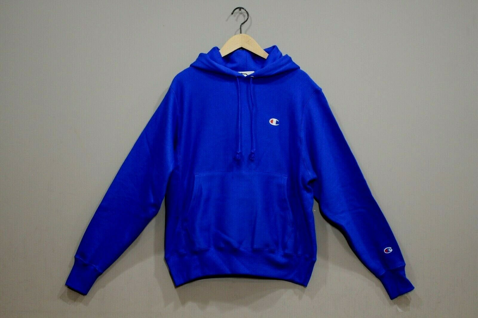 Primary image for Champion Men's  Reverse Weave Pullover Hoodie NEW AUTHENTIC R.Blue GF68 Y06145