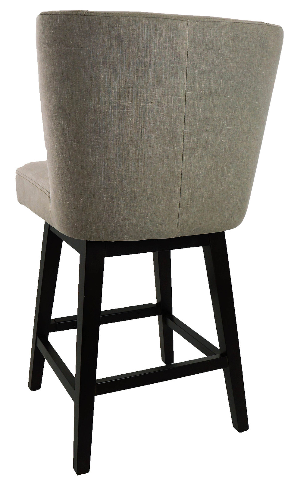 R 1223 Swivel Counter Stool With Back In Vintage Linen