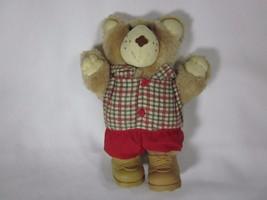 Vintage 1986 Christmas Furskins Teddy Bear 7 Inches Tall Wendy's Restaurant - $4.94