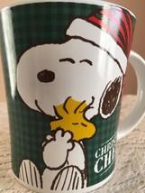 Snoopy Woodstock Xmas 15 oz Coffee Cup Christmas Cheer Holiday Peanuts G... - $14.99