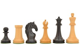 "Reproduced 1963-1966 Piatigorsky Cup Chess Set in Ebony / Box Wood - 4.2"" VJ080 - $440.99"
