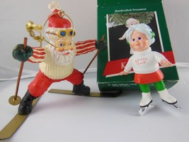 Kristy Claus and Santa claus ornaments - $9.25