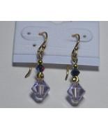 Swarovski earrings: Simply elegant Violet and jet earrings - $6.00