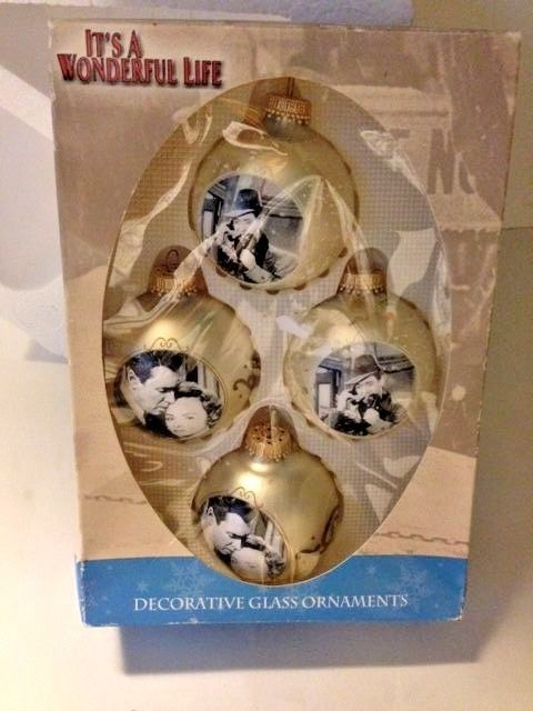 Its A Wonderful Life Glass Ornaments Merry And 19 Similar Items
