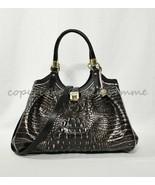 NWT Brahmin Elisa Satchel/Shoulder Bag Ironwood Alzette Embossed Leather - $359.00