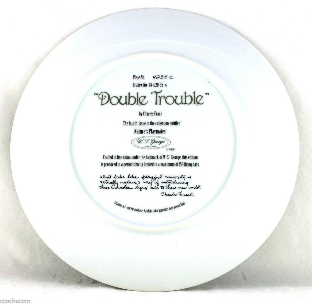 Double Trouble Nature's Playmates 1991 Charles Fracé Wildlife Bradford Plate COA