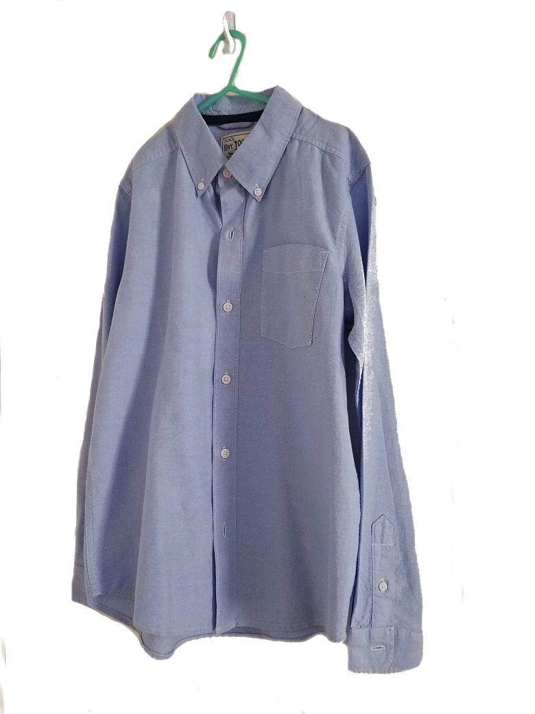 Childrens Place Boys' Long Sleeve 100% Cotton Button Dress Shirt Top Size: XL/14 - $7.57