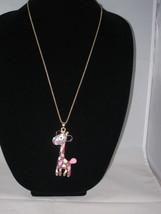 NEW Betsey Johnson Rhinestone Giraffe Pendant on long... - $24.50