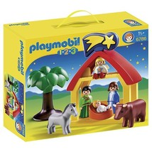 Playmobil 1.2.3 Christmas Manger Playset Standard Packaging - $45.12