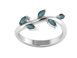 Luster Labradorite 925 Sterling Silver Leaf Women Ring Jewelry Sz 7.5 SH... - $13.64