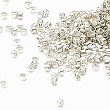 Miyuki Delicas 11/0, Galvanized Silver 035, 50g delica glass beads  - $24.50