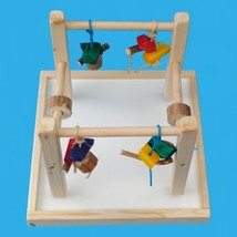 "Bird Play Gym For Conures,senegals,etc. 14"" Base Included - £18.51 GBP"