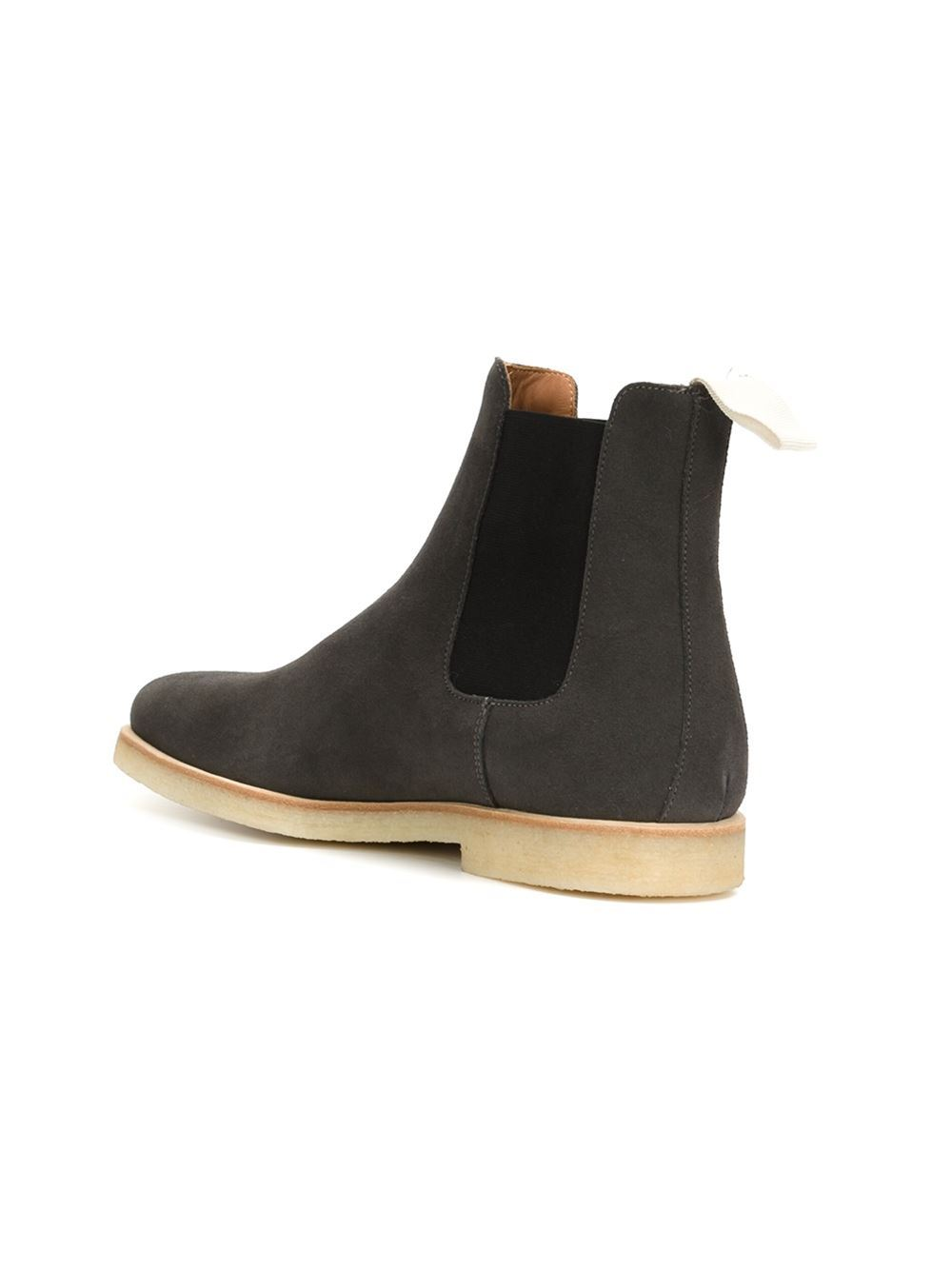 Handmade mens Dark gray Chelsea boot, Mens Gray crepe sole boots, Boots for men