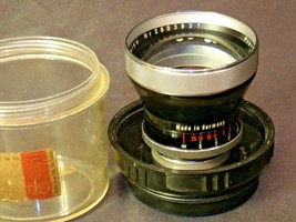Carl Zeiss Pro-Tessar Lens f=85mm with fitted Zeiss Ikon Case AA-192032 Vintage image 2