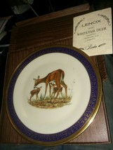 Lenox Annual Collector Plate Woodland Wildlife 1978 Whitetail Deer Boehm - $14.52