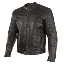 Customized Men's Handmade Black Color Black Bikers Leather Jacket Made T... - $145.00+