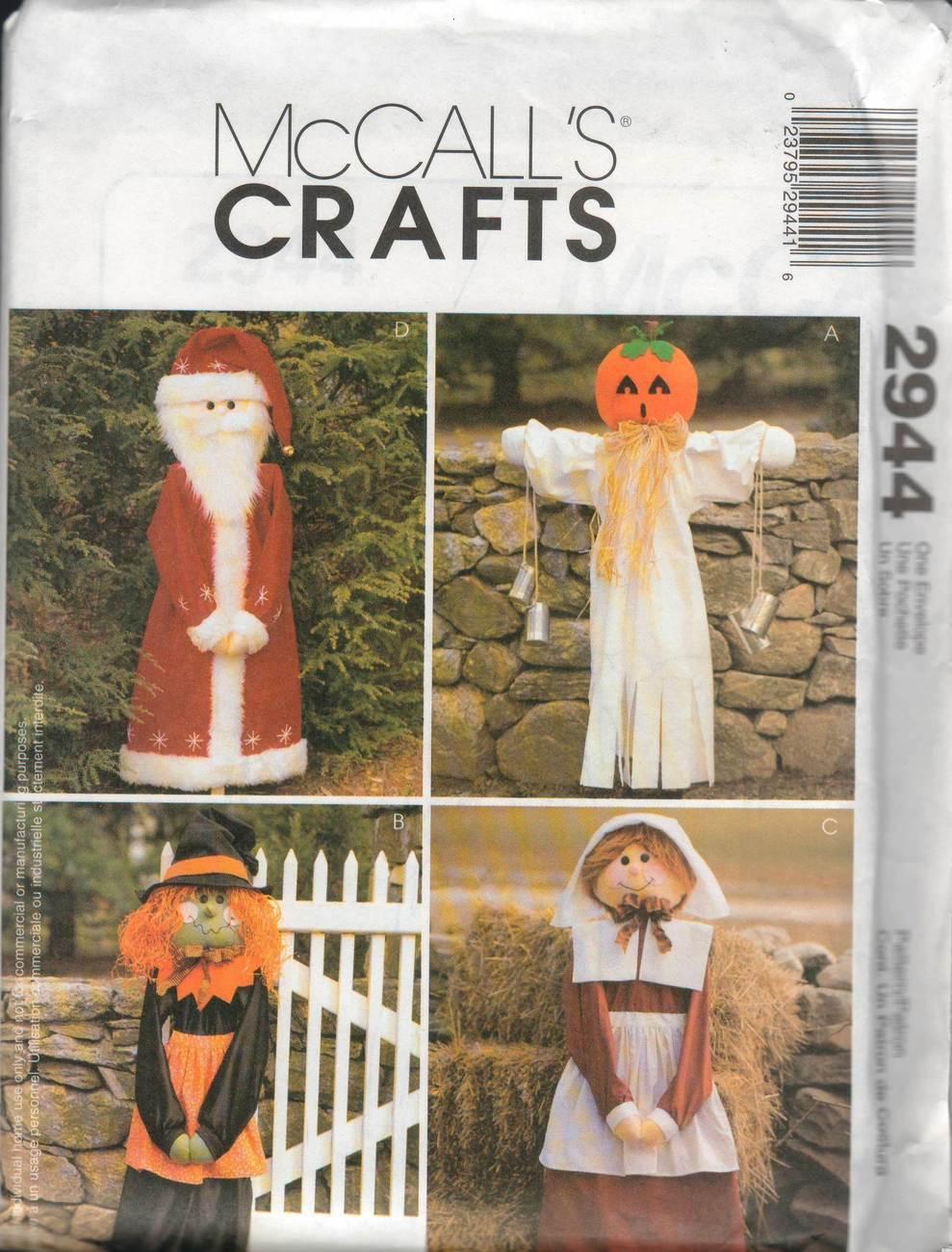 "McCall's Crafts Pattern 2944 - 50"" Seasonal Greeters"
