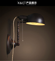 Vintage Dome Sconce Adjustable E27 Light Wall Lamp Home Plug Lighting Fixture - $95.61