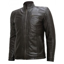 Customized Mens Handmade Black Color Fashion Bikers Leather Jacket Made ... - $159.00