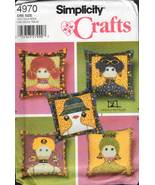 Simplicity Crafts Pattern 4970 - Appliqued Pillows - $9.99
