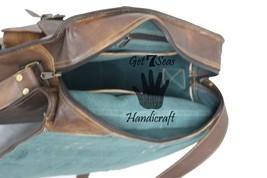 Messenger bag leather men's shoulder laptop satchel briefcase women vintage bags image 6