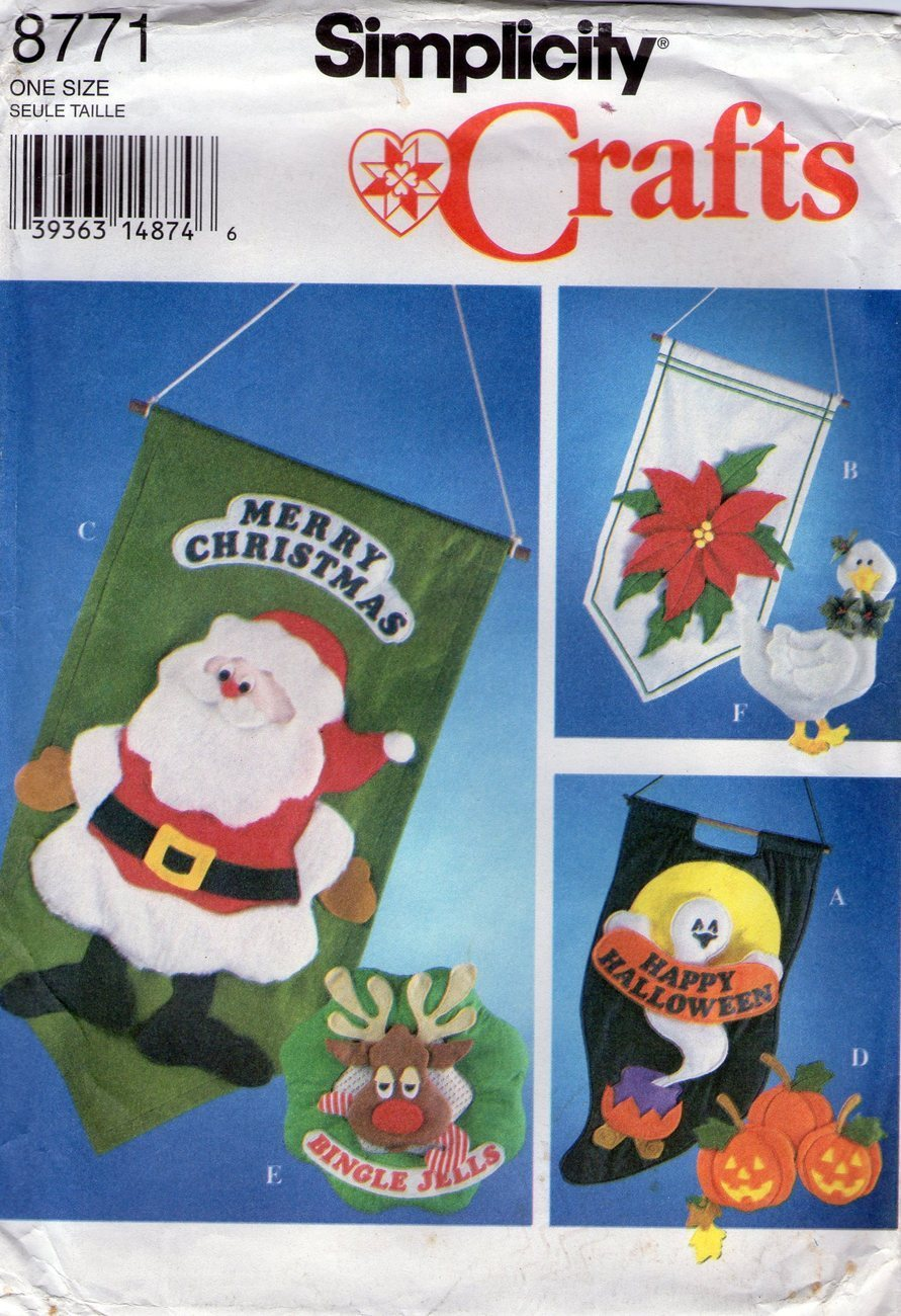 Simplicity Crafts Pattern 8771 - Holiday Crafts