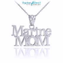 10k White Gold Marine Mom Pendant Necklace - $78.39 - $156.79