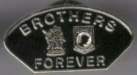 12 Pins - BROTHERS FOREVER POW MIA hat lapel pin sp426
