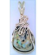 Australian Opal Silver Wire Wrap Pendant 57 - $33.99