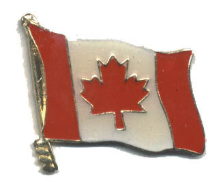 12 Pins - CANADIAN FLAG , canada hat tac lapel pin #564
