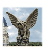 Large Chained Medieval Guardian Gargoyle Sculpture - $77.64