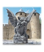 Large Florentine Medieval Guardian Gargoyle Outdoor Sculpture - $72.09