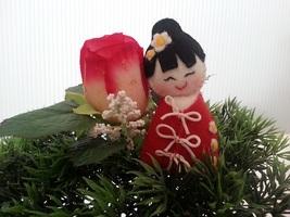 Kawaii handmade felt Japanese doll in Kimono at... - $7.00