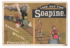 Victorian Trade Card Soapine Kendall Mfg Charlotte Perkins Gilman Train ... - $9.95