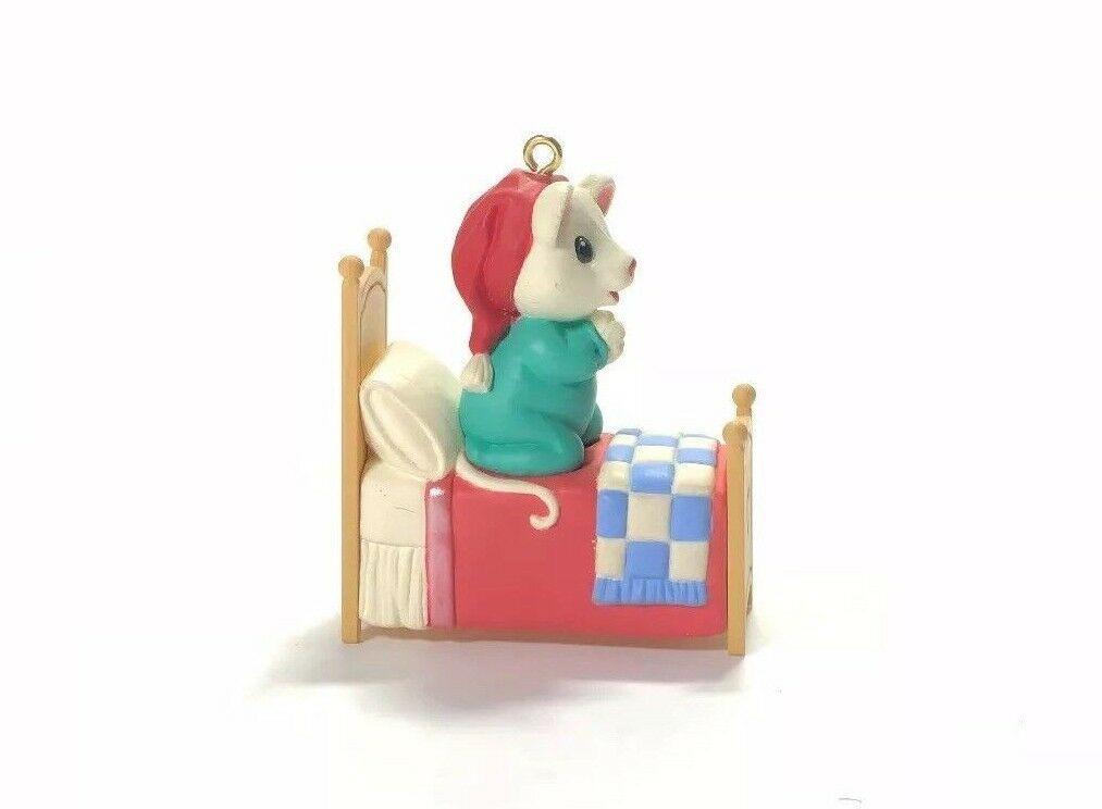 Hallmark Christmas Ornament Handcrafted Praying Mouse Keepsake 1996 Godchild