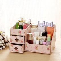 Storage Box Organizer Wooden Container Case Jewelry Drawer Clear New Bin... - $19.98