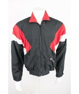 Vintage Champion Men's Nylon Jacket Windbreaker Small Black Red Zip Up r... - $31.19