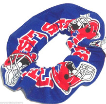 Buffalo Bills Blue Fabric Hair Scrunchie Scrunchies by Sherry NFL  Ponytail - $6.99