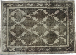 Overdyed Hand Knotted Vintage Persian Retro Chic Rug 208x157cm - $690.00