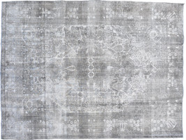 Overdyed Hand Knotted Vintage Persian Retro Chic Rug 337x233cm - $1,700.00