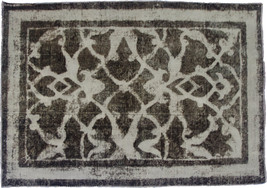 Overdyed Hand Knotted Vintage Persian Retro Chic Rug 152x108cm - $390.00