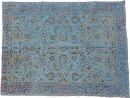Overdyed Hand Knotted Vintage Persian Retro Chic Rug 367x267cm - $2,600.00