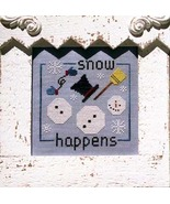 CLEARANCE Snow Happens cross stitch chart Glory Bee  - $3.50