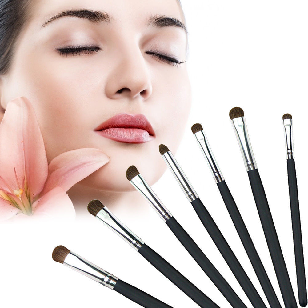 Primary image for 7 pcs Natural Hair Make Up Brushes Soft Eye Professional Cosmetic Brushes Set